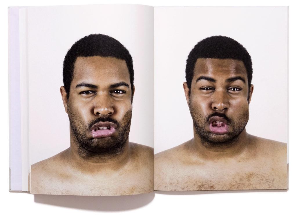 Fotobuch Portraits 330Kmh Doppelseite Mann Wind im Gesicht