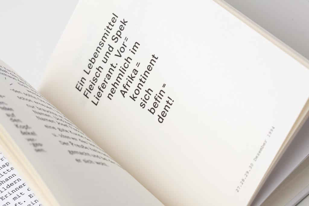Seitendetail des preisgekrönten Künstlerbuches Johann Fischer