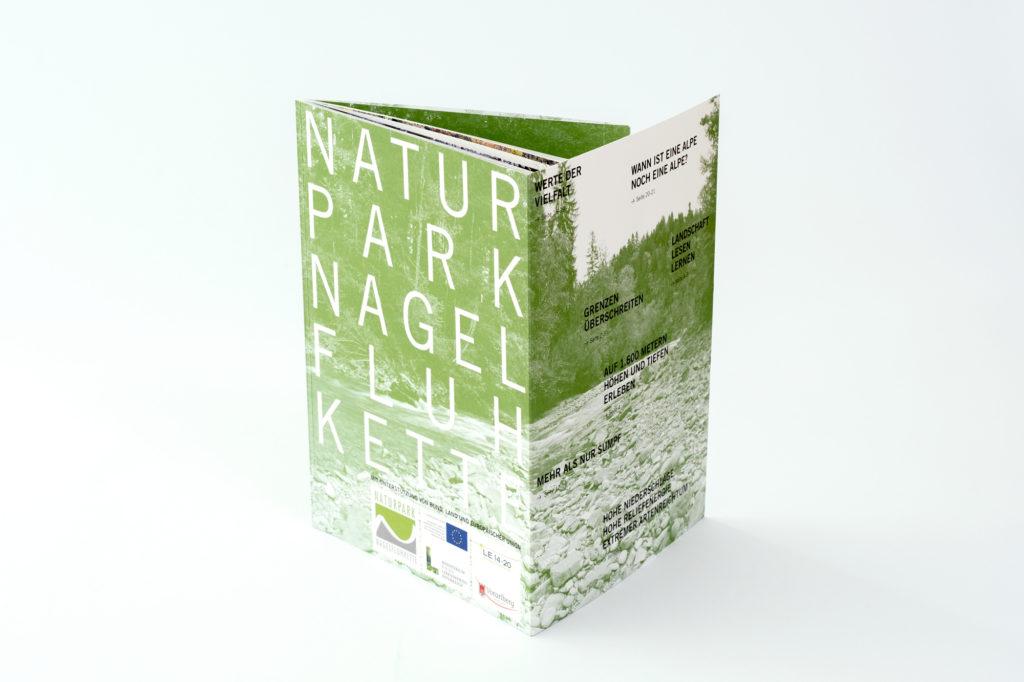 Image Broschüre für den Naturpark Nagelfluhkette Bregenzerwald. Konzeption und Gestaltung: Julian Hagen - HAGEN GESTALTUNG – Büro für besondere Ideen