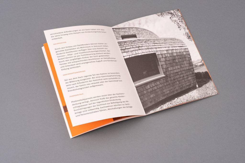 Grafik Design Julian Hagen - Dornbirn. Dachdeckerei Schwendinger. Vorarlberg Design. Architektur.