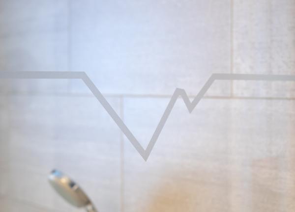 Glas Aufprallschutz Badezimmer - Leitsysteme - Signaletik