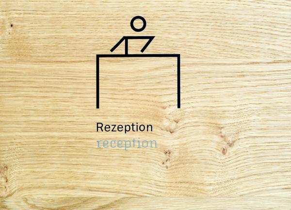 Leitsystem für Hotel Rezeption