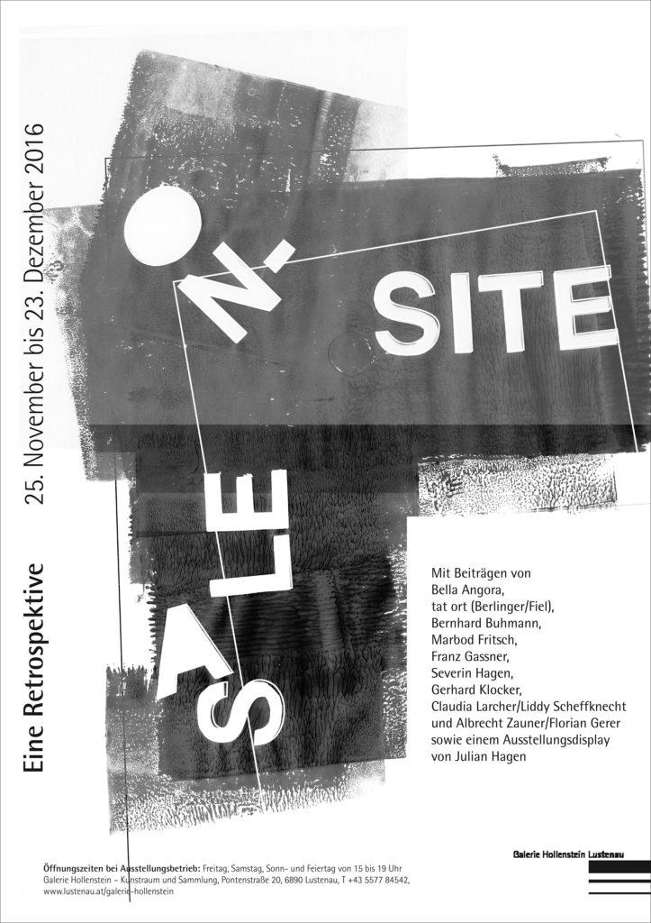 Hagen Julian Sale on Site Ausstellung Gestaltung Galerie Lustenau Grafik Design Preis Lustenau Julian Hagen